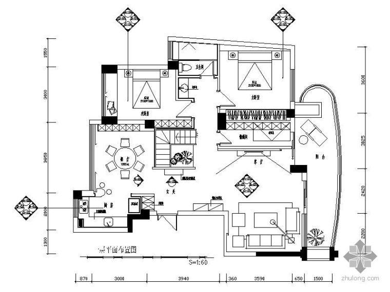 酒店风格复式装修设计图