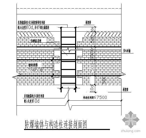 防爆墙构造隐蔽节点详图