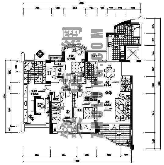 一套大户型家装施工图