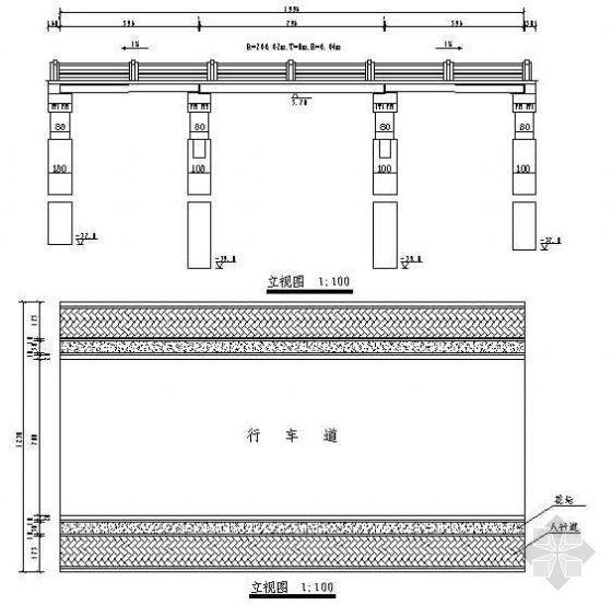 钢筋混凝土平板桥成套cad设计图纸