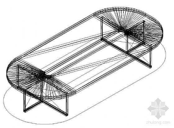 办公家具CAD模型5
