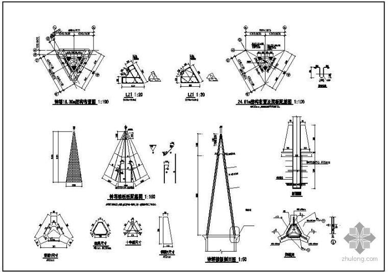 某教堂钟塔节点构造详图_1