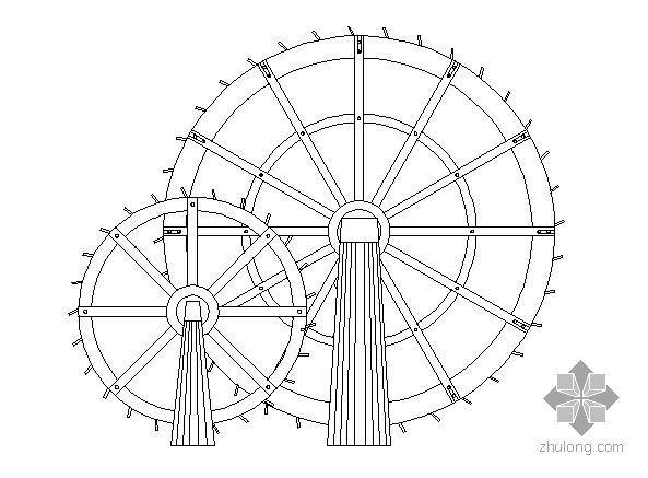 某广场风车施工图