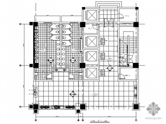 国际大酒店电梯厅及卫生间装修图