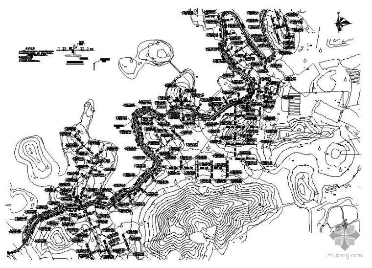 东莞市滨湖路绿化喷淋系统工程施工图纸
