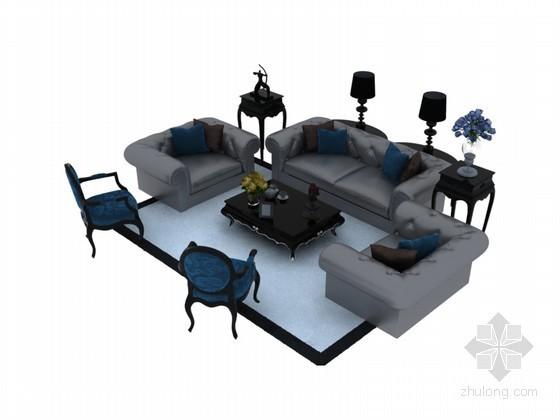 舒适大气沙发3D模型下载
