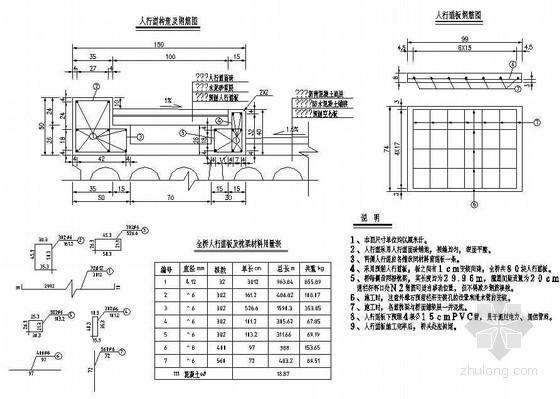 10米简支空心板桥上部栏杆及人行道节点详图设计