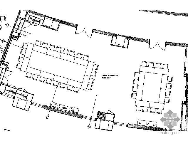 五星级酒店会议室施工图