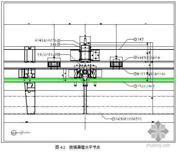 摇摆柱与水平弓形桁架支撑体系干式密封玻璃幕墙施工工法