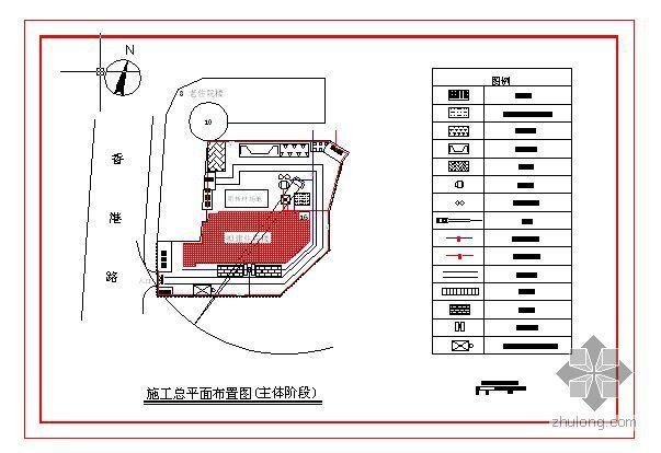 武汉某医院病房楼各阶段施工总平面布置图