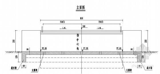 石家庄市上庄支线某漫水小桥改建工程设计图