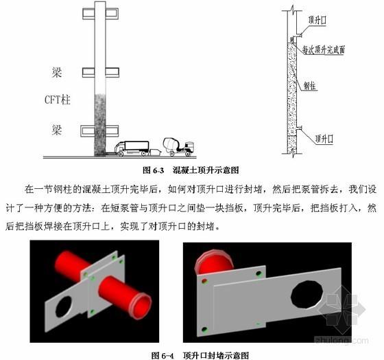 [天津]钢管柱混凝土顶升施工方案