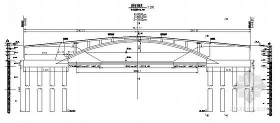新乡市某空腹式拱桥土建工程设计图(二)