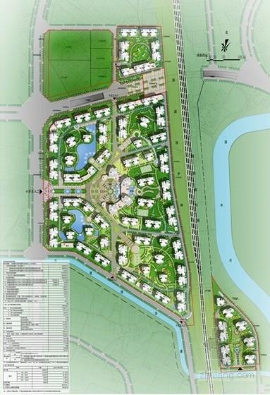 现代风格高层安置区规划方案总平面图