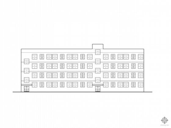 [湖南]某四层员工宿舍方案扩初图(带效果图)