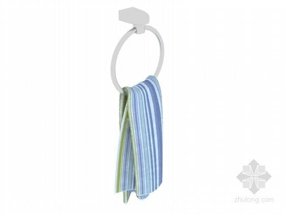 圆形毛巾挂件3D模型下载