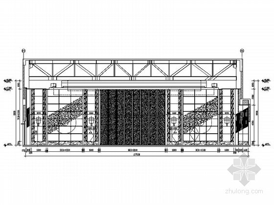 [苏州]环抱独墅湖水天一色苏式恬静会议酒店设计施工图(含方案及实景)中餐厅立面图