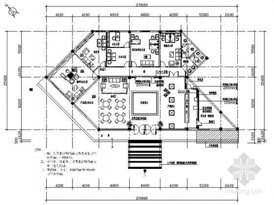 [安徽]滨湖小区现代高档售楼处室内装修施工图(含效果)