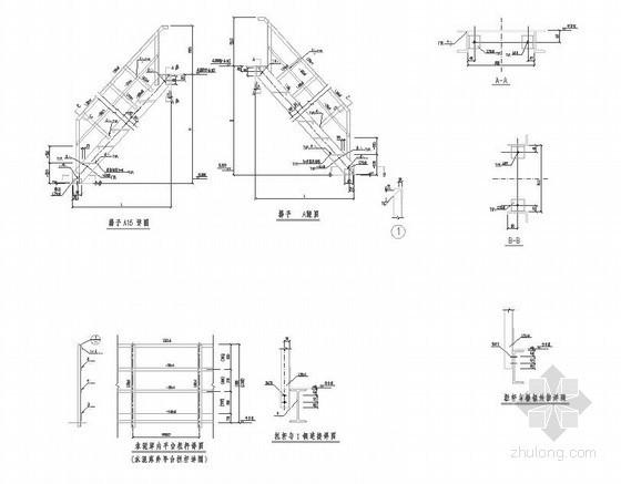 材料库钢爬梯结构施工图