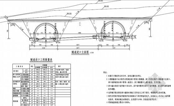 [福建]2015年设计双向四车道钻爆法施工隧道设计图纸全套559页(含机电照明)
