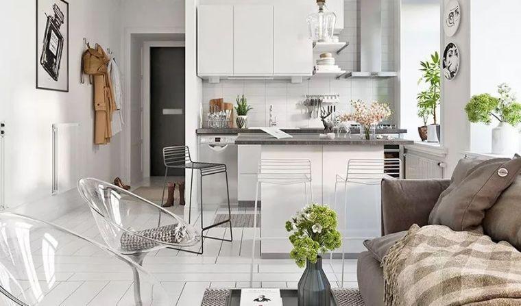 25平北欧风纯白小宅,选活动式家具就对了!