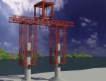 附着式自爬升钢管桥塔安装施工工法视频演示