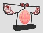 个性中式台灯3D模型下载