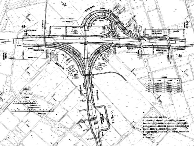 高速公路A型单喇叭互通立交工程施工图设计286张(桥梁,涵洞)