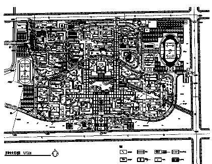 韦德国际娱乐_韦德国际线上娱乐_韦德国际足球投注_40套大学校园规划总平面图CAD方案图纸_6
