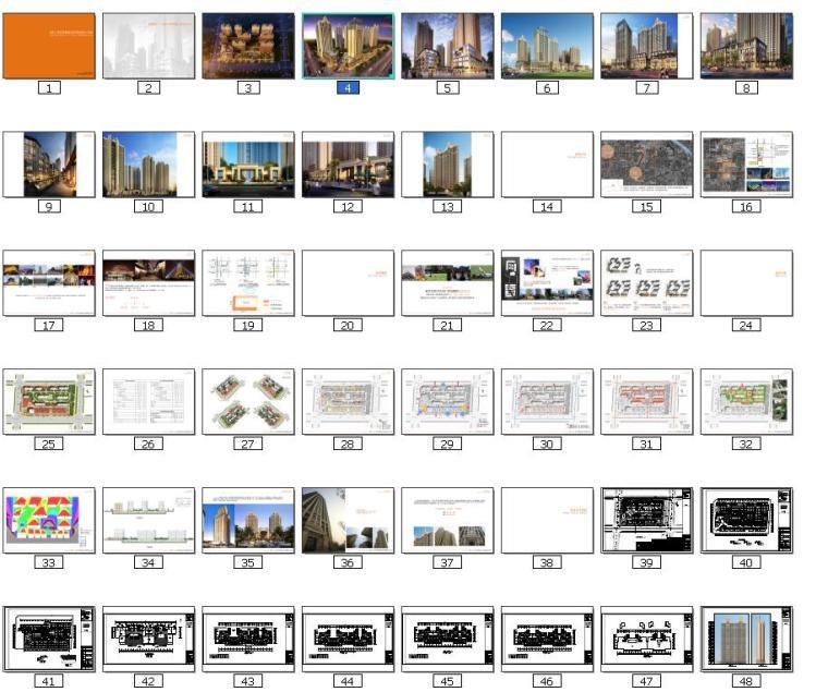 高层现代artdeco风格优质高端点式住宅楼建筑缩略图