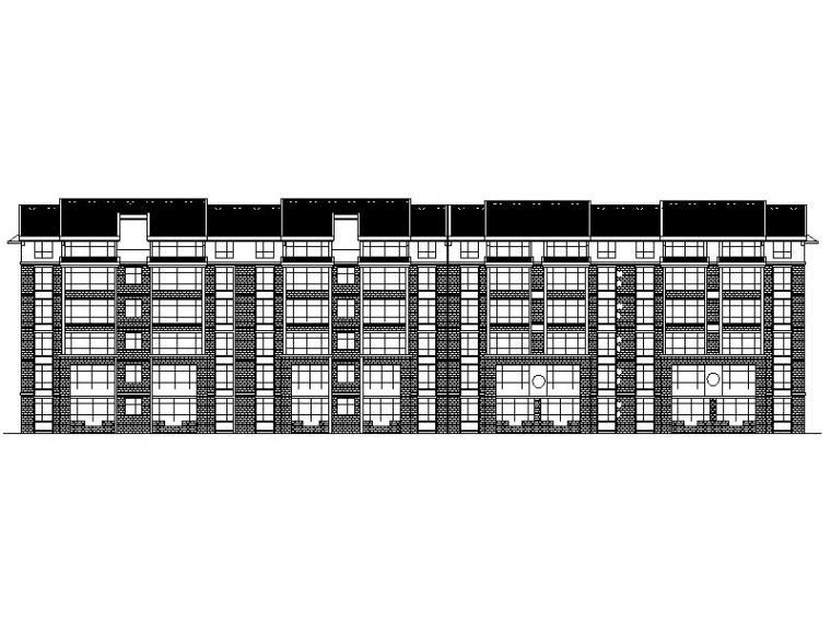 [宁夏]大型新中式小区多层住宅楼施工图(全专业图纸)