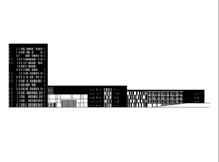 [浙江]高层L型涂料外墙信息办公中心建筑施工图