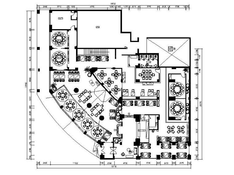 [浙江]慢生活音乐主题餐厅设计施工图(含效果图)