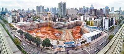 成都城市音乐厅超深基坑开挖完毕,面积相当于3个足球场