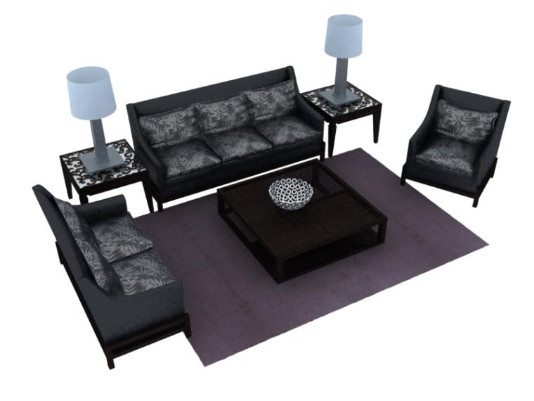 舒适沙发3D模型下载-舒适沙发