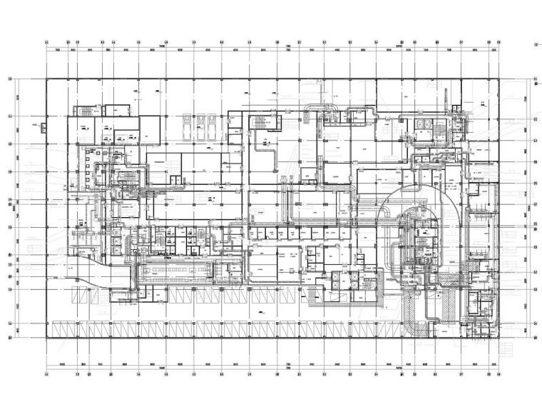 [广东]高层酒店建筑暖通空调全系统设计施工图(制冷机房)