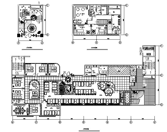 30套咖啡厅西餐厅设计方案CAD图纸_3