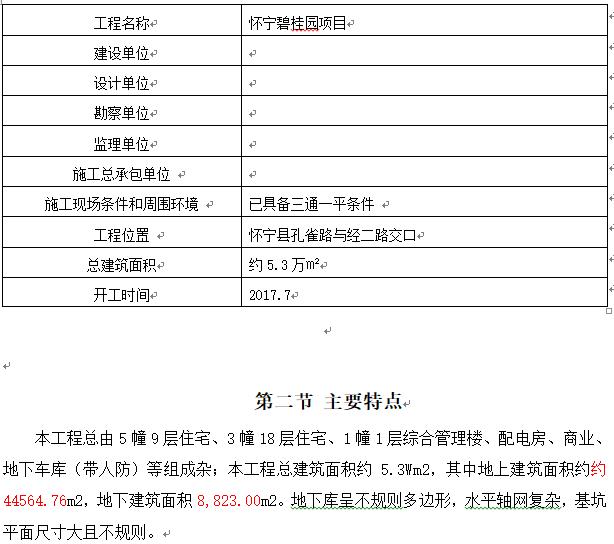 [碧桂园]怀宁住宅楼工程施工组织设计(191页,丰富)