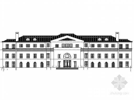 [山西]3层现代简欧风格国际会所设计施工图(知名建筑设计院)