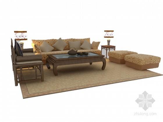 现代中式沙发组合