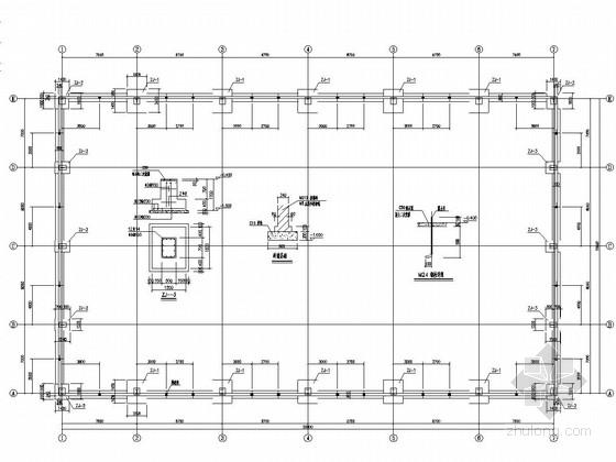 单层钢结构厂房结构施工图(含建施)
