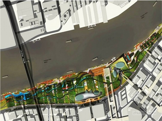 [上海]世博会园区中央知名地产景观规划设计方案(英文方案)