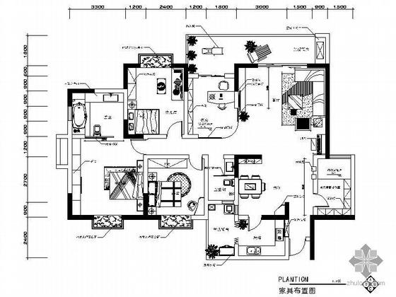 [四川]五居室装修设计图