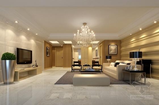 [浙江]时尚现代公寓三居室装修图(含效果图) 效果图