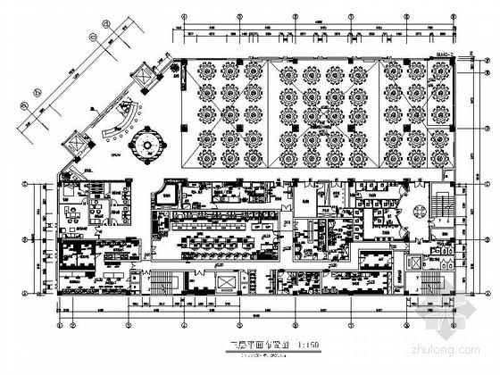 [深圳]城市中心区奢华典雅酒店设计CAD施工图(含效果)