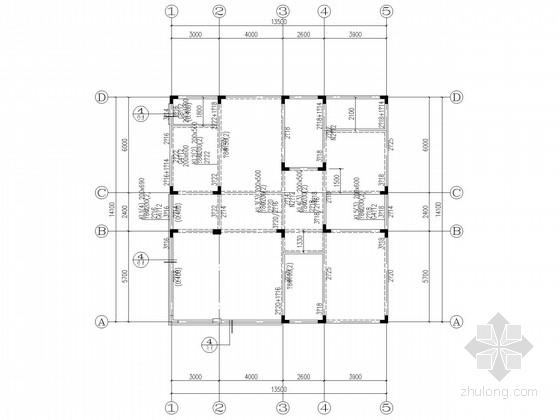 四层坡屋顶异形柱框架别墅结构施工图