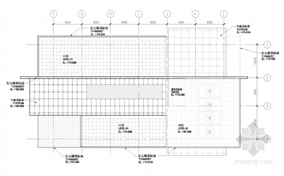 [上海]超高层知名金融办公建筑设计方案文本(知名事务所)-超高层知名金融办公建筑平面图