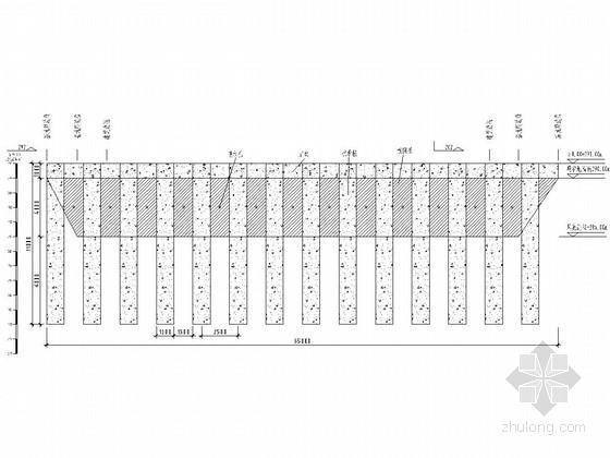 基坑抗滑桩及桩间板支护施工图(附设计计算书)