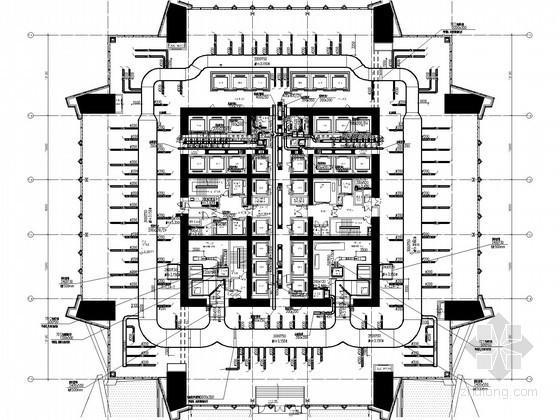 [北京]超高层商业综合楼空调通风及防排烟系统设计施工图(人防设计)