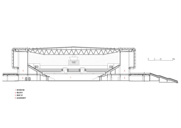 临安半透明轻盈的体育文化会展中心剖面图 (28)